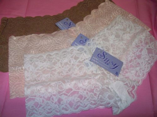 Susy lace boyshorts brown white pink