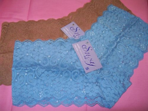 Susy lace boyshorts brown oceanblue