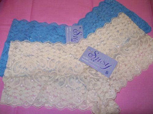 Susy lace boyshorts beige oceanblue