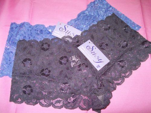 Susy lace boyshorts gray mediumblue