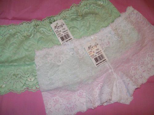 Margie Green White Lace Boyshorts