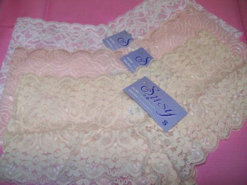 Susy lace boyshorts white pink beige