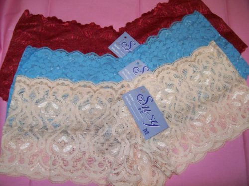 Susy lace boyshorts red oceanblue peach