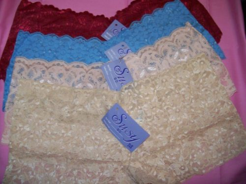 Susy lace boyshorts red oceanblue gold peach