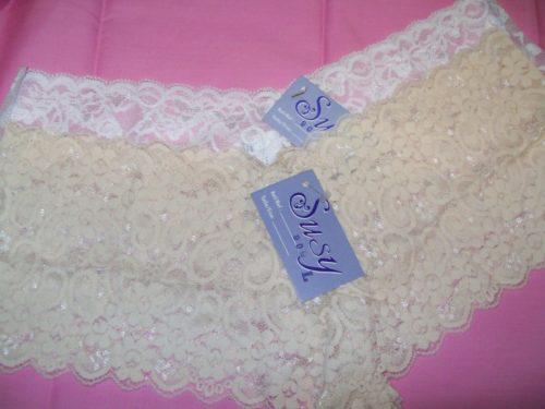 Susy lace boyshorts white beige