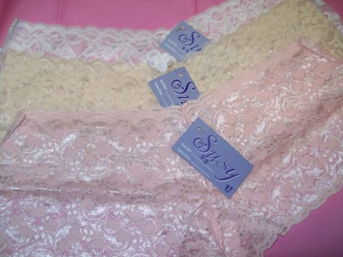 Susy lace boyshorts white beige pink