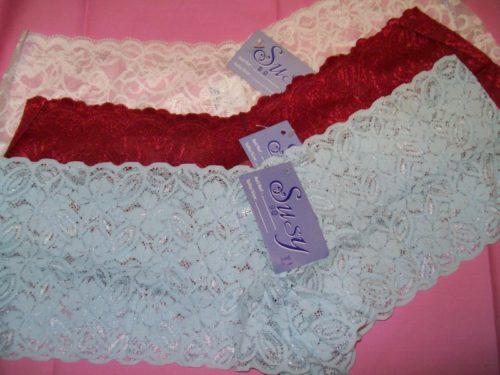 Susy lace boyshorts white red light blue
