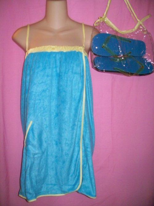 Jolie Swimwear Coverup Wrap Blue