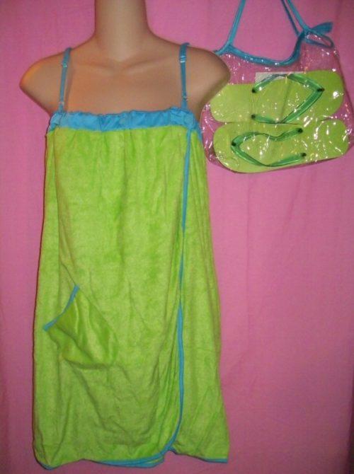 Jolie Swimwear Coverup Wrap Green
