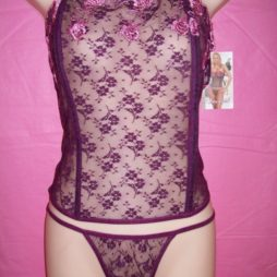 Dreamgirl_Purple_Lace_Corset_dg3664_front