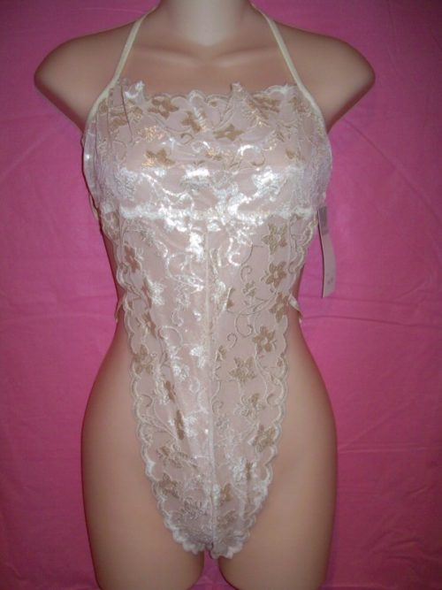 Fantasy Lingerie Ivory Lace Teddy