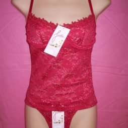 Jackie Lace Cami Set Red