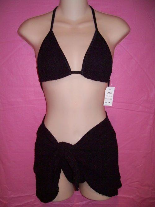 PDQ Black Swimwear Set