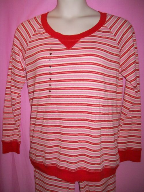 VS Fireside Thermal Red Lurex Stripe