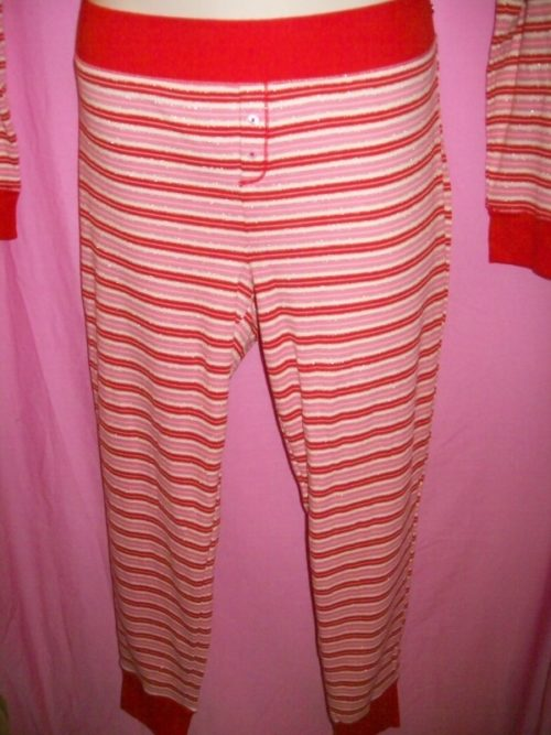 VS Fireside Red Lurex Stripe Pants