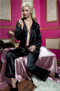 Seven 'Til Midnight Lingerie Sweet Sensations Satin Pajama Set