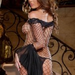 Seductive_Siren_Fence_Net_Dress_dg8045_Back