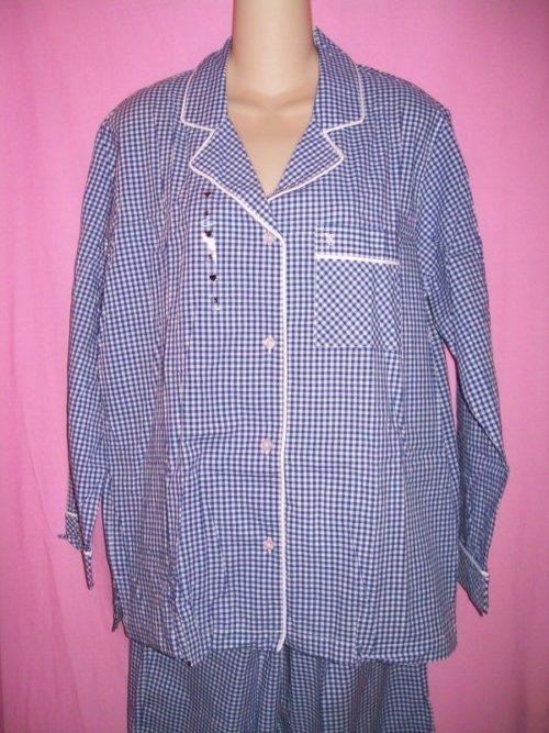 VS Mayfair Sleepwear blue gingham