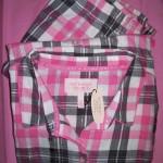 VS Dreamer Cotton Pajama Pink Gray Plaid