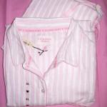VS Dreamer Cotton Pajama Pink White stripes