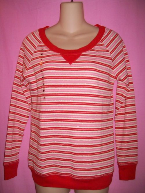 VS Fireside Red Lurex Stripe Top