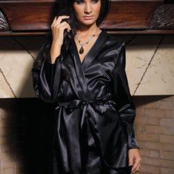 Coquette Satin Lace Robe cq8007