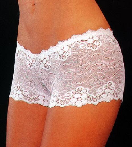 margie white lace boyshorts