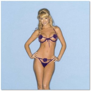 Faris Lingerie Floating Daisy Bra and Thong Set
