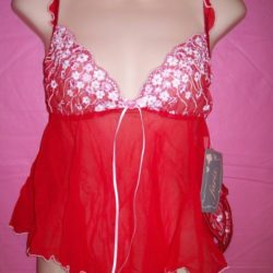 Faris Red Softcup Babydoll