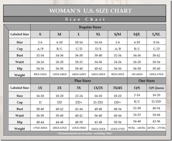 Escante_Size_Chart