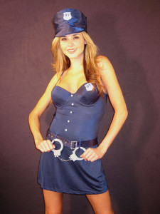 Jolie Lingerie Sexy Four Piece Blue New York Police Costume Roleplay Set