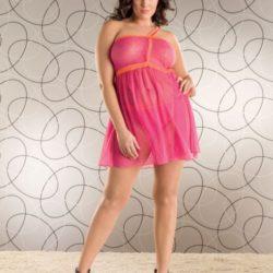 STM_PS_Single_Strap_Fence-Net_Babydoll_STM-9068X-pink