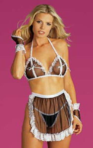 Tease Bodywear Lingerie Sexy Maid For Fun 5 Piece Lingerie Roleplay Set