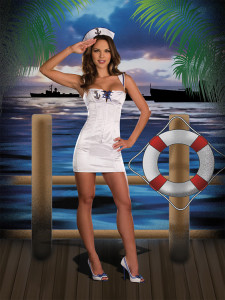 Dreamgirl Lingerie Sexy Anchors Away Costume Set