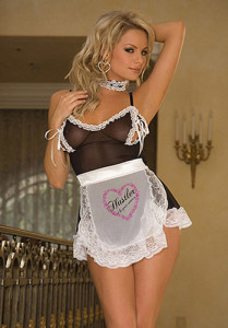 Hustler Lingerie Sexy French Maid Four Piece Costume Roleplay Set