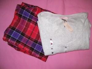 Victoria's Secret Lingerie The Dreamer Henley Cotton Flannel Pajama Sleepwear Set