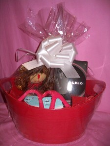 Lelo Flickering Touch Massage Oil Candle Gift Basket