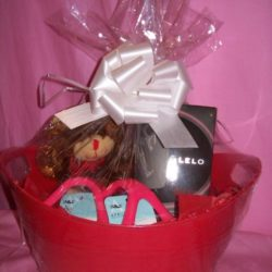 Lelo Massage Oil Candle Gift Basket Black Pepper Promegranate