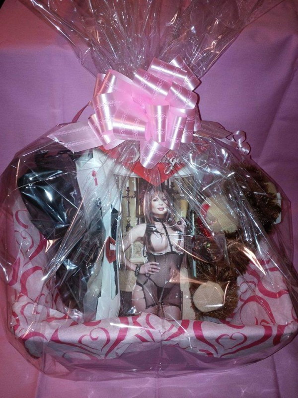 Naughty and Nice Lingerie Large Gift Baskets, Wrap and Bow