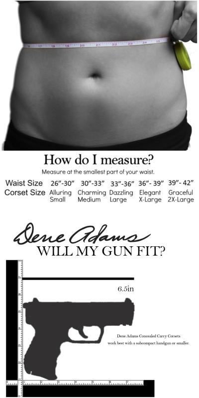 Dene_Adams_Corset_Gun_Holster_Size_gun_chart
