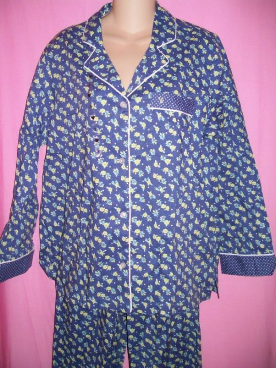 Victorias_Secret_Mayfair_Sleepwear_Pajamas_Blue_Floral