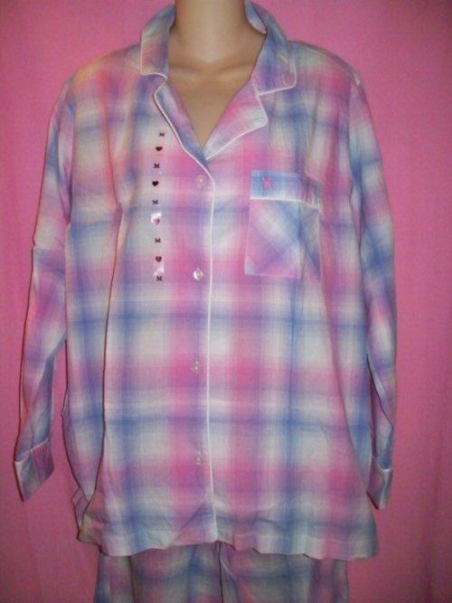Victorias_Secret_Mayfair_Sleepwear_Pajamas_Blue_Pink_Plaid