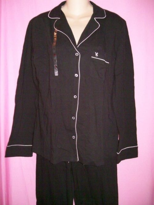 Victorias_Secret_Sleepover_Pajama_Black