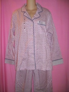 Victoria's Secret Lingerie The Mayfair Lightweight Cotton Pajama PJ Sleepwear Set