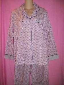 Victoria's Secret Lingerie The Mayfair Lightweight Cotton Pajama PJ Sleepwear Set
