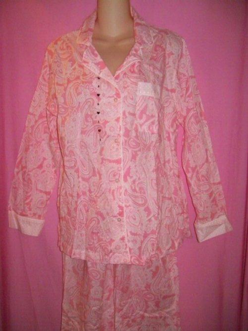 Victorias_Secret_Mayfair_Sleepwear_Pajamas_Pink_Paisley
