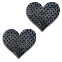 Glitter Lingerie Black Shiny Dot Heart Pasties