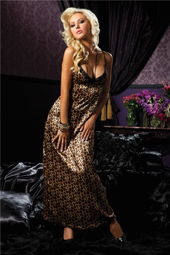 Seven 'Til Midnight lingerie joan gown STM_30113_BROWN_F