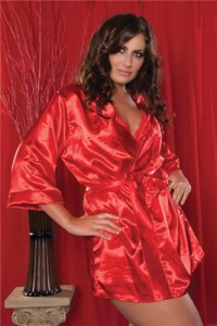 Seven 'Til Midnight Lingerie Plus Size Satin Flawless Robe