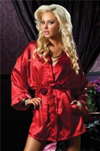 Seven 'Til Midnight Lingerie Satin Flawless Robe